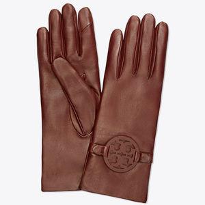 Tory Burch NWT Brown Miller Gloves Size 6.5